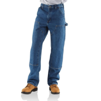 Carhartt Men's Double-Front Washed Logger Denim
