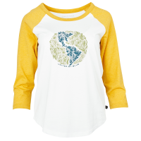 United By Blue Women's Rooted In Nature Baseball 3/4-Sleeve Tee - Size S