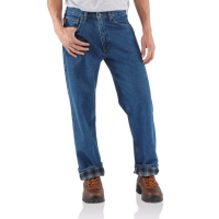 Carhartt Men's Relaxed Fit Flannel-Lined Work Jeans