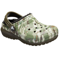 Crocs Boys' Classic Fuzz-Lined Graphic Clogs - Size 11