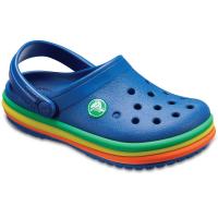 Crocs Kids' Rainbow Band Clogs - Size 8