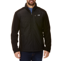 New Balance Men's Dobby Overlay Polar Fleece Jacket