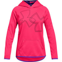 Under Armour Big Girls' Armour Fleece Dual Logo Pullover Hoodie