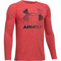 Under Armour Boys' Hybrid Big Logo Long Sleeve Tee