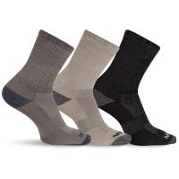 Merrell Men's Cushioned Crew-Length Performance Hiker Socks, 3-Pack