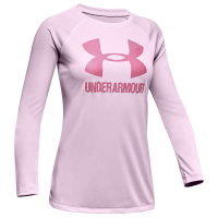 Under Armour Girls' Big Logo Long-Sleeve Tee