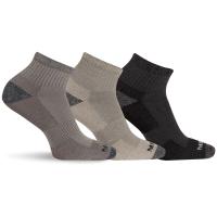 Merrell Men's Cushioned Performance Hiker Quarter Length Socks