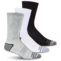 Merrell Men's Cushioned Elite Hiker Crew Socks, 3-Pack