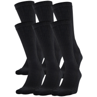 Under Armour Boys' Cotton Training Crew Socks, 6 Pack