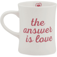 Life Is Good The Answer Is Love Diner Mug