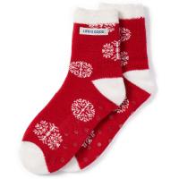 Life Is Good Women's Snowflake Pattern Snuggle Socks