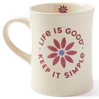 Life Is Good Keep It Simple Daisy Mug