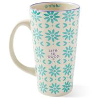 Life Is Good Tribal Flower Pattern Start Me Up Mug