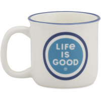 Life Is Good Coin Happy Camper Mug