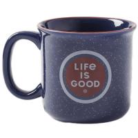 Life Is Good Coin Happy Camper Mug