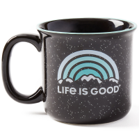 Life Is Good Winter Vibes Happy Camper Mug
