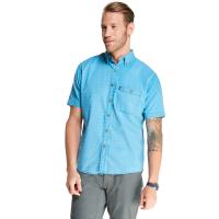 G.h. Bass & Co. Men's Salt Cove Pigment Dobby Short-Sleeve Button-Down Shirt