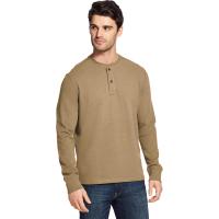 G.h. Bass & Co. Men's Carbon Plaited Jersey Long-Sleeve Henley