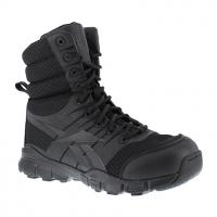 "Reebok Work Men's Dauntless Ultra-Light Soft Toe Seamless 8"" W/ Side Zip Tactical Boot, Black"