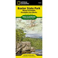 Nat Geo Baxter State Park/mt. Katahdin, Maine Map