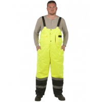 Utility Pro Wear Men's High-Visibility Insulated Bib Overalls