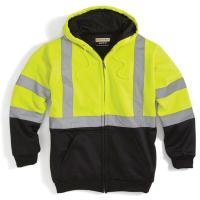 Utility Pro Wear Men's Uhv425 Stain-Resistant Ansi Class 3 Hi Vis Hooded Sweatshirt