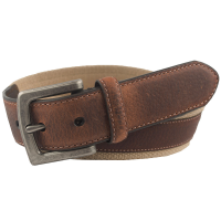 Columbia Men's Canvas Leather Overlay Belt