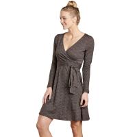 Toad & Co. Women's Cue Wrap Long-Sleeve Dress - Size L