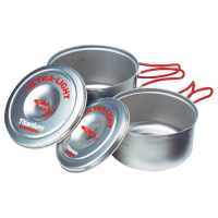 Evernew Titanium Ultra-Light Medium Pot Set