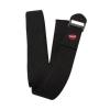 8-Foot Cinch Buckle Cotton Yoga Strap In Black
