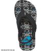 Reef Boys' Ahi Flip-Flops, Grey Skulls