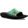 Oofos Women's Oolala Slide Sandals, Black/seafoam