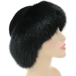 Peter Glenn Beaver Hat with Fox Fur (Women's)