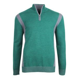 Bugatchi Zip Neck Patch Sweater (Men's)