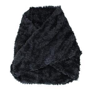 Elan Blanc Faux Fur Chevron Infinity Scarf (Women's)