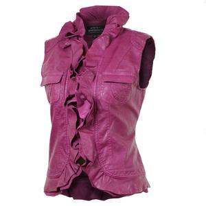 Montanaco Faux Lamb Ruffled Vest (Women's)