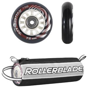 Rollerblade 72mm Inline Skate Wheel and Bearing 8-Pack Kit