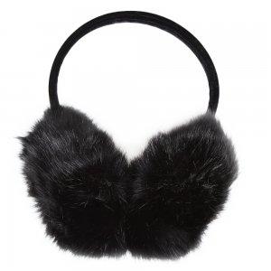 Elan Blanc Jumbo Faux Fur Earmuffs (Women's)