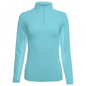 Ibkul Long Sleeve Zip Mock Sun Shirt (Women's)