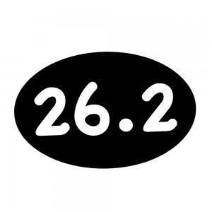 26.2 Marathon Car Magnet
