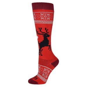 Hot Chillys Holiday Fever Mid Volume Ski Sock (Women's)