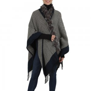 Peter Glenn Border Wrap with Fox Trim (Women's)