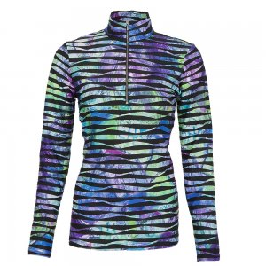Sno Skins Twisted Print Half Zip Shirt (Women's)