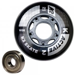 K2 72mm Inline Skate Wheel & Bearing 8-Pack Kit