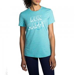 Brooks Run Happy Short Sleeve Running Shirt (Women's)