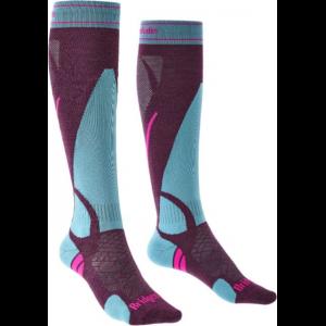 Bridgedale Ski Lightweight Socks - Women's, Blackberry, Medium