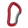 Wild Country Climbing Electron Carabiner, Bent Gate, Red/Gunmetal