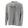 Huk Performance Fishing Huk Performance Fishing Pursuit Vented Ls Tops, Long Sleeve   Mens, Grey, Large