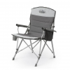 Core Equipment Padded Hard Arm Chair, Gray, 25 X 35.5 X 35 In
