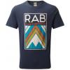 Rab Demo, Stance Aztec Short Sleeve Tee   Men's, Deep Ink, Large, Qcb 10 Di L